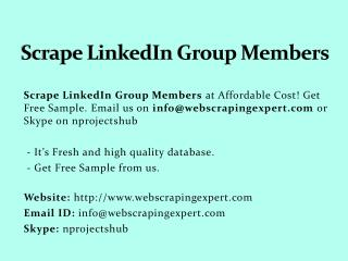 Scrape Linkedin Group Members