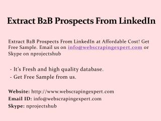 Extract B2B Prospects From LinkedIn