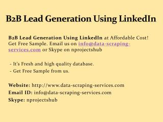 B2B Lead Generation Using Linkedin