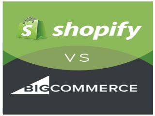 Shopify vs BigCommerce Comparison