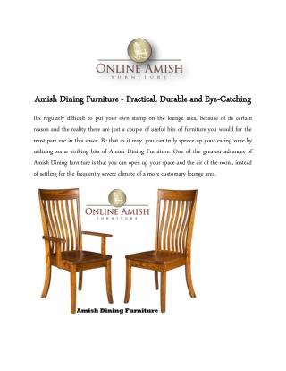 Amish Dining Furniture - Practical, Durable and Eye-Catching
