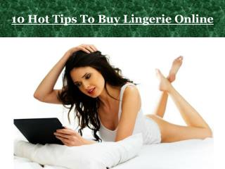 10 Hot Tips To Buy Lingerie Online