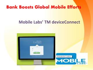 Bank Boosts Global Mobile Efforts
