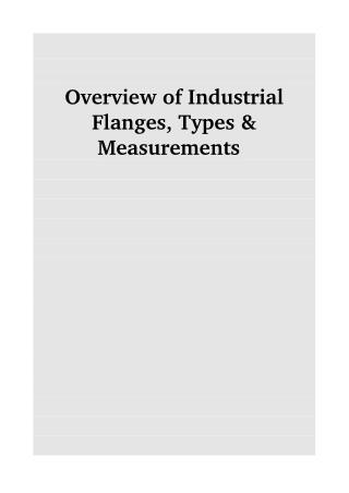 Overview of Industrial Flanges, Types & Measurements