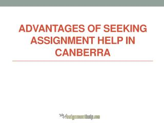 Where to get Assignment help online in Canberra - Australia ?