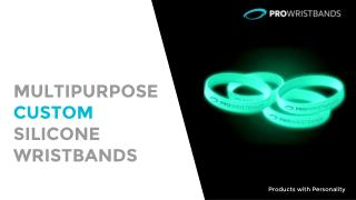 Multipurpose Custom Silicone Wristbands