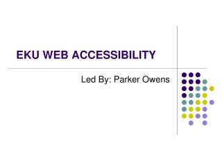 EKU WEB ACCESSIBILITY