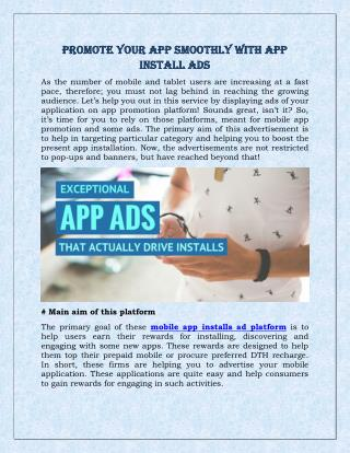 Promote Your App Smoothly with App Install Ads