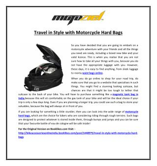 Travel in Style with Motorcycle Hard Bags