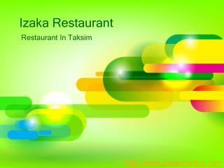 Taksim restaurant - Istanbul sushi