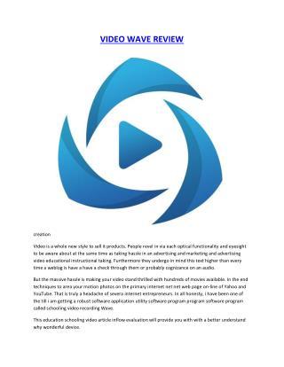 Video Wave Review Bonus Discount Pro