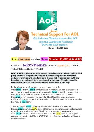 Your Email Damage  1 855 999 8045 AOL Mail Password recovery Toll Free Helpline!!!