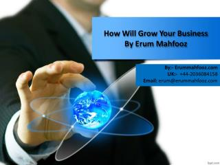 How Will Grow Your Business - Erum Mahfooz