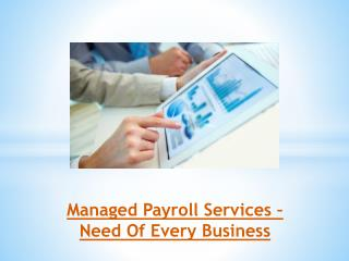Managed Payroll Services – Need Of Every Business