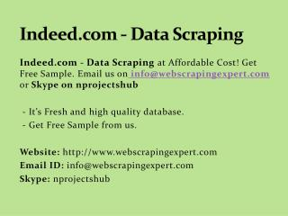 Indeed.com - Data Scraping