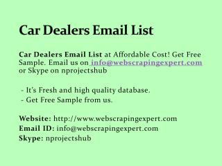 Car Dealers Email List