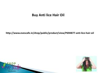 Buy Anti lice Hair Oil