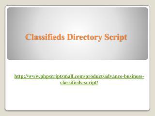 Classifieds Directory Script