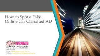 How to Spot a Fake Online Car Classified Ad