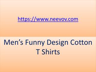 Mens Funny Design White Colour Cotton T Shirts