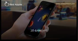 Red Apple Technologies 2D game design and art Portfolio
