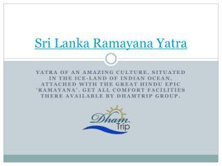 Sri Lanka Ramayana tour package