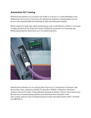 Automation PLC Training