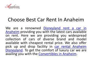 Disneyland Rent A Car In Anaheim