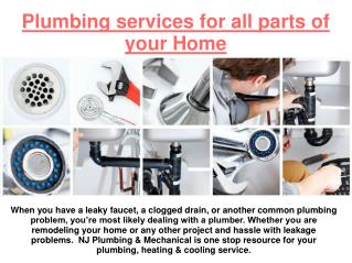 Effective Plumbing Services at Reasonable Cost