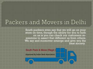 Southpackers - Packers and Movers in Delhi
