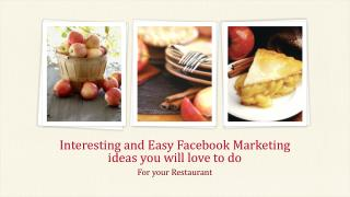 Interesting and Easy Facebook Marketing ideas you will love to do | Weberge