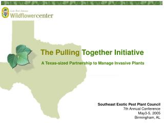 The Pulling Together Initiative