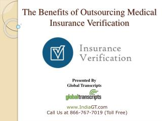 The benefits of outsourcing medical insurance verification