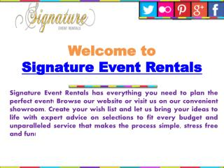 Signature Event Rental