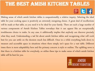 The Best Amish Kitchen Tables