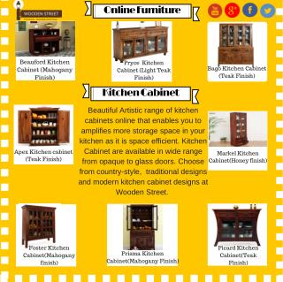 Kitchen Cabinets : Buy Wooden Kitchen Cabinets Online India