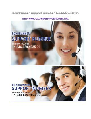 roadrunner support number 1-844-659-1035