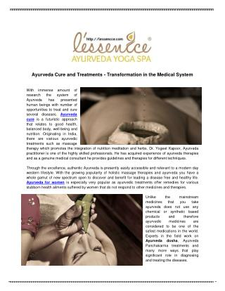 Ayurveda Cure and Treatments