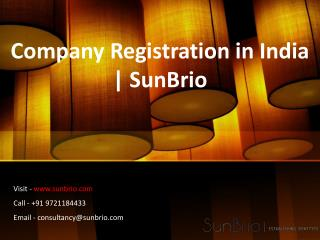 Company Registration in India | SunBrio