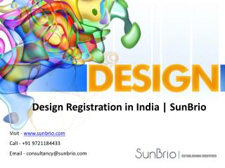 Design Registration in India | SunBrio