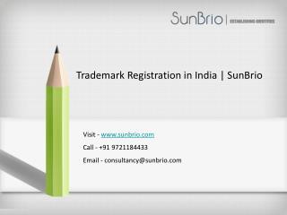 Trademark Registration in India | SunBrio