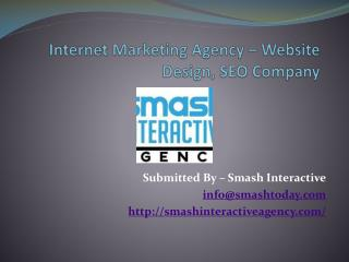 Internet Marketing Agency – Website Design and SEO Company