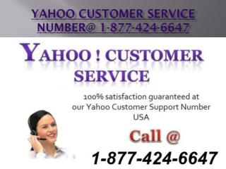 yahoo customer service number for any issue @1-877-424-6647