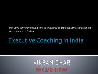 Executive Coaching in India