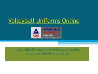 Volleyball Uniforms Online