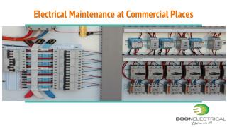 Electrical Maintenance at Commercial Places