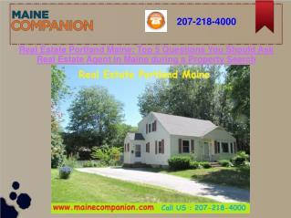 Real Estate Portland Maine