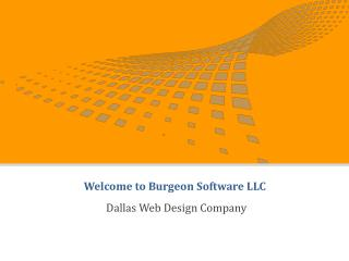 Dallas Web Design Company - Burgeon Software LLC