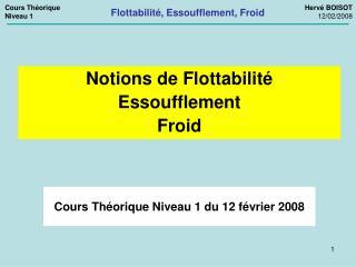 Cours Th orique Niveau 1 du 12 f vrier 2008