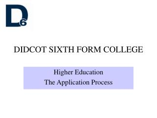 DIDCOT SIXTH FORM COLLEGE